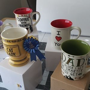 CUP LOT OF 5 GREAT FOR GIFTING IDEAS.